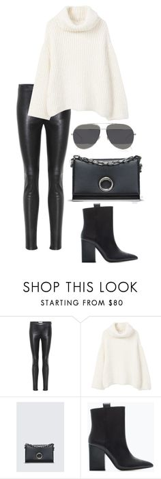 """""""Untitled #1312"""" by elipenaserrano ❤ liked on Polyvore featuring Yves Saint Laurent, MANGO, Zara and Christian Dior"""