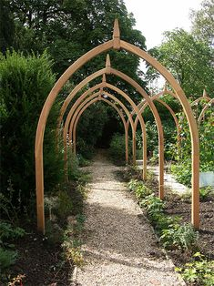 Fencing – Bespoke Garden Products – Norton Garden Structures - All About Garden Archway, Garden Entrance, Garden Arbor, Garden Trellis, Garden Fencing, Back Gardens, Outdoor Gardens, Permaculture, Victorian Gardens