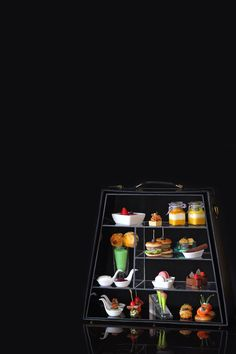 Newly launched signature Afternoon Tea at The Westin Shenzhen in a handbag shaped stand.  This is the gentlemen version.
