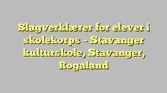 Slagverklærer for elever i skolekorps - Stavanger kulturskole, Stavanger, Rogaland
