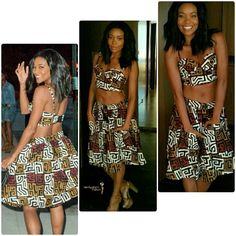 @remyglamnation on Instagram: Is it Wednesday yet? How gorgeous is actress Gabrielle Union in an #African print two-piece top and skirt?