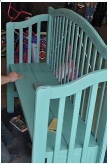 What to do with an Old Crib 15 Great Ideas for Repurposing Baby Cribs! ~ Baby Coupons and Stuff