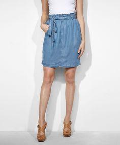 #levi.com                 #Skirt                    #Scrunch #Waist #Skirt #Medium #Blue                Scrunch Waist Skirt - Medium Blue                                             http://www.seapai.com/product.aspx?PID=532821