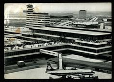 KLM Airlines,Airport Schiphol,Amsterdam,Holland,1968 Postcard