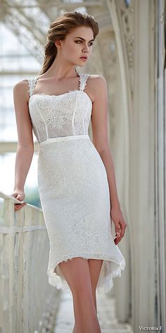 Top 18 High Low Wedding Dresses ❤ See more: http://www.weddingforward.com/high-low-wedding-dresses/ #weddings
