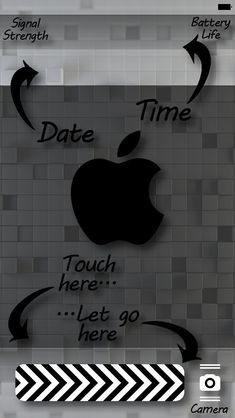 Date Screen . Wallpaper Off White, Apple Logo Wallpaper, Iphone 5 Wallpaper, Locked Wallpaper, Lock Screen Wallpaper, Iphone Backgrounds, Stunning Wallpapers, Black And White Drawing, Free Iphone