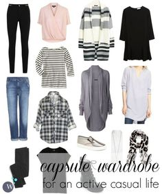Capsule Wardrobe for an Active Casual Life #capsulewardrobe
