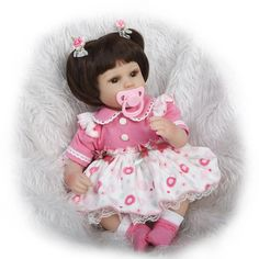 67.93$  Buy here - http://alimua.worldwells.pw/go.php?t=32690725174 - 42cm 16 inch Lifelike Silicone Vinyl Reborn Baby Doll doll body Toys  Birthday Gift New Year gift free shipping 67.93$