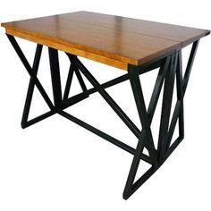 Imagio Home Siena Gate Leg Table, Black and Java