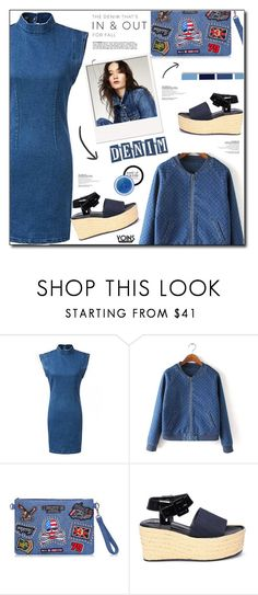 """""""YOINS.56.Denim."""" by patria ❤ liked on Polyvore featuring MAKE UP FOR EVER and alldenim"""