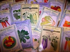 Save money on next year's garden by getting seeds from end of season sales.