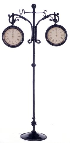 Black Outside Clock | Mary's Dollhouse Miniatures