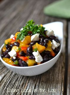 Black Bean, Mango and Goat Cheese Salad ~ a super easy Meatless Meal ...