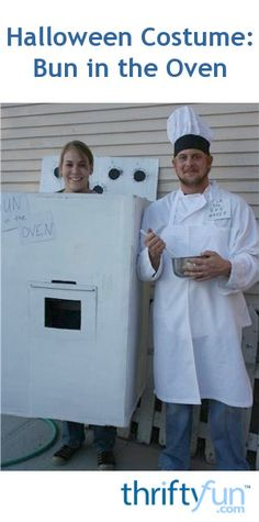 This is a guide about making a bun in the oven costume. This is a creative Halloween costume idea for a pregnant woman and her partner.
