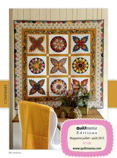QUILTMANIA Magazine N°108 (July August 2015) Provence - réalisé par Véronique Diligent pour WattleBird Designs http://www.quiltmania.com/organisation/la-boutique.html