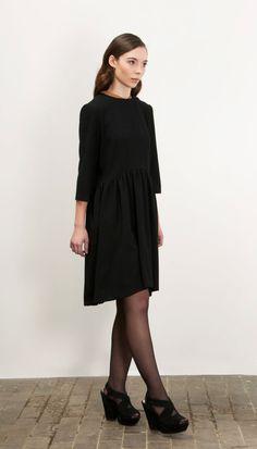 Little wool Black Dress