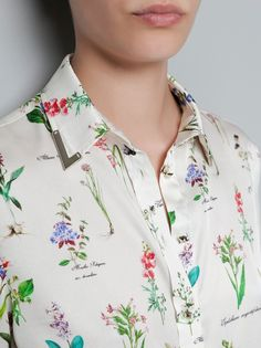 Herb Floral Blouse with Appliques Collar |  Obsessed With this blouse but it's sold out