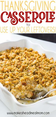 Enjoy all the flavors of Thanksgiving dinner together in one easy dish with this Thanksgiving Casserole freezer meal - it's a great way to use up leftovers! Thanksgiving Leftover Casserole, Easy Thanksgiving Dinner, Healthy Thanksgiving Recipes, Holiday Recipes, Holiday Meals, Thanksgiving Wreaths, Leftover Turkey Recipes, Leftovers Recipes, Easy Dinner Recipes