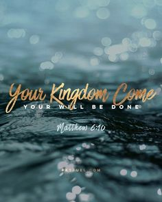 Not 'my' Father but 'ours'. Not my name being honoured but God's. Not 'our kingdoms' but God's kingdom! Not 'our will' but God's will being done. Not elsewhere in Heaven but here on earth!