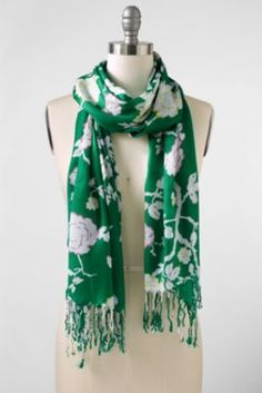 Women's Pop Rose Print Scarf from Lands' End