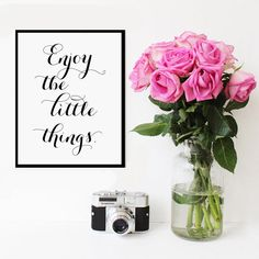Enjoy the little things   Affiche Scandinave di VisualPixie