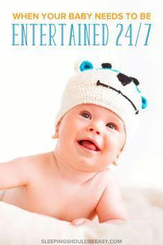 Can't peel away from your baby even for a second? Or maybe your baby cries unless you're singing, shaking a rattle or holding her. Here's what to do when your baby needs to be entertained constantly. Baby Crying Images, Baby Crying Face, Colic Baby, Newborn Baby Care, Baby Lane, Baby Care Tips, Baby Tips, Dream Baby, Baby Needs