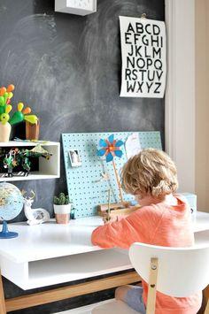 Back to school kids bedroom, make over work area. Work space for children. Desk area for children. Bedroom ideas for children. Kids Bedroom Designs, Bedroom Ideas, Bedroom Decor, Bedroom Boys, Kid Bedrooms, Design Bedroom, Boy Room, Nursery Decor, Desk Areas