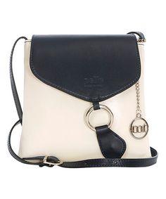 Ivory O-Ring Leather Crossbody Bag #zulily #zulilyfinds