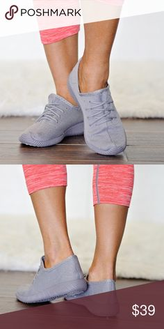 Nikki Gray Sneakers These sneakers are what the rave is all about! They have a thick grey mesh, cushioned insole, and flexible rubber sole. Perfect for that gym outfit or pair with those leggings!  These run true to size. Shoes Sneakers