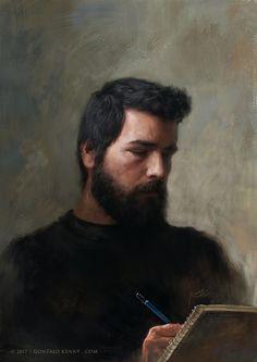 Selfportrait in G Minor, Gonzalo Kenny on ArtStation at https://www.artstation.com/artwork/qmmOP