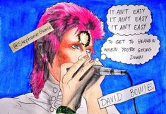 David Bowie Art, How To Get, Fan Art, Comics, Music, Easy, Painting, Instagram, Musica