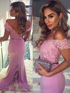 Trumpet/Mermaid Prom Dresses, Off-the-shoulder Tulle Long Formal Dresses, Silk-like Satin Sweep Train with Sashes / Ribbons Evening Party Gowns