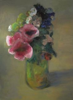Marc Whitney, Large Floral with 3 Flowers #flower #painting