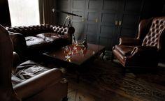 One bedroom suite at London Syon Park Masculine Interior, Masculine Bedrooms, Interior Architecture, Interior Design, Cigar Room, Bar Lounge, Lounge Seating, Man Room, Smoking Room