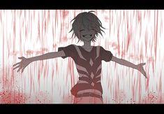 Let's the blood rain upon you Anime White Hair Boy, Dark Anime Guys, Sad Anime, Cute Anime Boy, Anime Art, Dope Cartoon Art, Dope Cartoons, Anime Qoutes, Anime Child