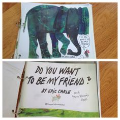 """Class Book activity for Eric Carle's """"Do You Want to Be My Friend"""""""
