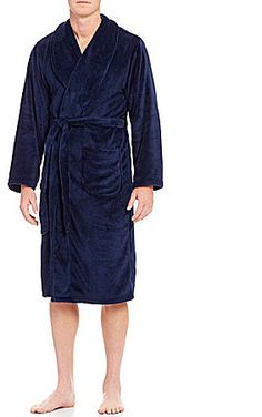 Roundtree & Yorke Plush Solid Robe Mens Sleepwear, Plush, Fashion, Dress, Moda, Fashion Styles, Mens Pyjamas, Fashion Illustrations, Fashion Models