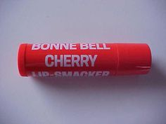 this was the original packaging for bonne bell lip smackers -- and cherry was my favorite!