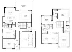 2 storey house designs and floor plans - Google Search | Two ...