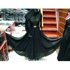 Burqa - Black with frills