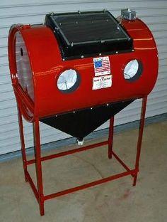 The Barrel Blaster. Great design on this blasting cabinet