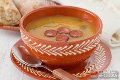 Receita de Sopa de abóbora com linguiça em receitas de sopas e caldos, veja essa e outras receitas aqui!