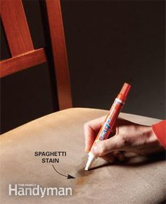 Spot-clean food and drink spills on a variety of surfaces with stain pens - they really work!