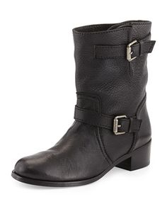 Max+Short+Moto+Boot,+Black+by+Delman+at+Neiman+Marcus.