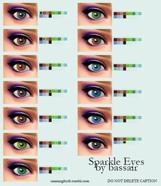 Simming Forth: Sparkle Eyes by bassair • Sims 4 Downloads