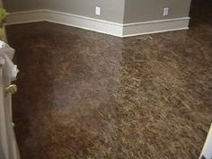 paint osb subfloors | Finished Osb Floor - with gray walls white trim. Kind of stunning!