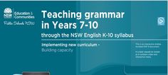 This online PDF explains the importance of contextualising the teaching of grammar- inviting teachers to watch, explore and download resources which will aid their ability to effectively teach grammar Teaching Grammar, Instructional Coaching, English Grammar, Public School, Curriculum, Knowledge, Pdf, Teacher, Student