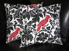 Black, White & Red Modern Pillow Covers