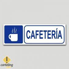 Resultado de imagen de señaletica para cafeteria