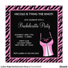 Ladies Night Bachelorette Party Card